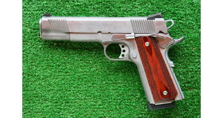 SPRINGFIELD ARMORY M1911 LOADED SILVER